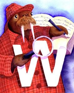 Walrus Writing a Whodunnit
