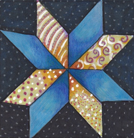 eight-pointed star quilt